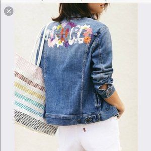 Pilcro Amore embroidered blue  jean jacket